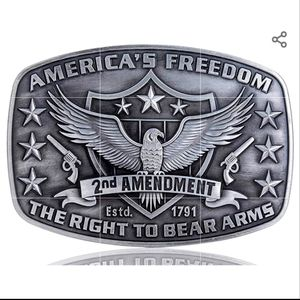Right to bear arms 2nd amendment belt buckle